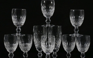 Suite of Waterford Crystal Drinking Glasses (9)