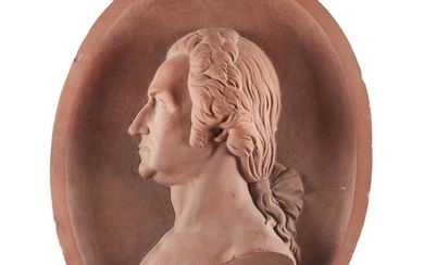 Terracotta portrait bust plaque of George Washington New York...
