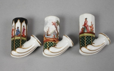 Three porcelain pipes