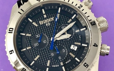"""Traser -T5 Master Chronograph with Black Leather Strap Swiss Made - """"NO RESERVE PRICE"""" 106974 - Men - Brand New"""