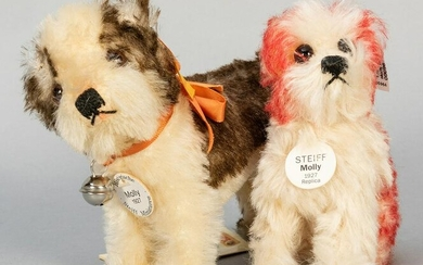 """Pair of Steiff """"Molly"""" Dogs. Including"""