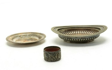 Two Tiffany & Co. Ribbed Bowls with Additional.