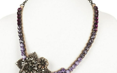 Valentino Multicolored Rhinestone Necklace