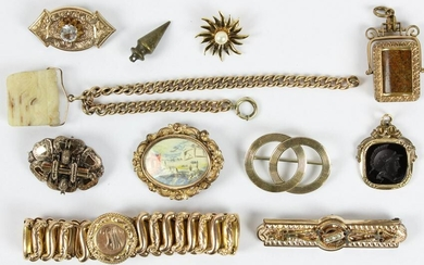 Victorian gold jewelry & thobs