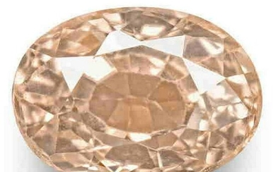 0.41-Carat GRS-Certified Unheated Soft Orangy Pink