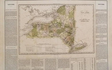1825 Buchon Map of New York -- Carte Geographique,