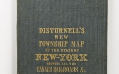 1847 Smith - Disturnell Pocket Map of New York