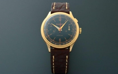 18k Yellow Gold Eberhard & Co Single Button Chronograph