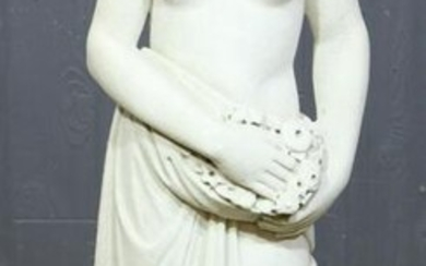 19th C Italian Carved Marble Figure