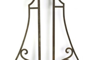 """(2) 19th c. wrought iron architectural elements, 90""""h"""