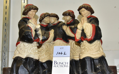 (3) Figural Chalkware Candle Holders