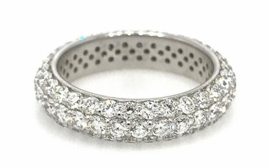 3.04 cts. Brilliant Diamond Pave Eternity Band Ring in