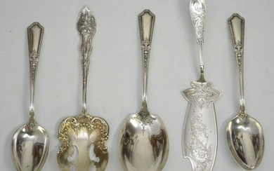 5 Large Sterling Silver Flatware Serving Pieces