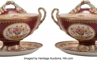 61006: A Pair of Large Sèvres-Style Porcelain Tu