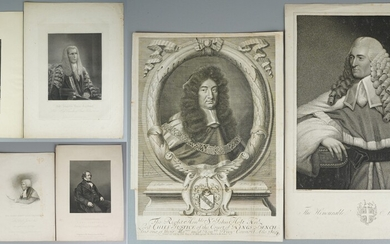 (7) Early Engravings of English Judges