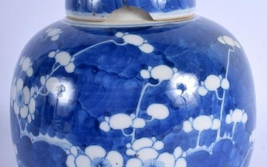 A 19TH CENTURY CHINESE BLUE AND WHITE PORCELAIN GINGER