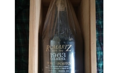A Bottle of Romariz Port. 1963. Still wrapped and with origi...