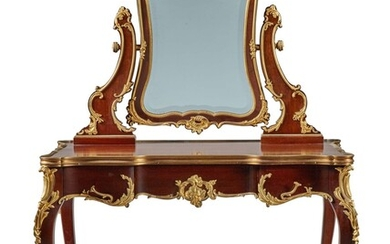 A FRENCH GILT-BRONZE MOUNTED MAHOGANY DRESSING TABLE, CIRCA 1910