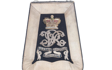 A Fine Officer's Full Dress Sabretache To The North Somerset Yeomanry, Circa 1870-1901