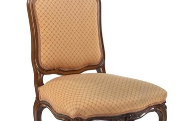 A Louis XV Style Walnut Side Chair