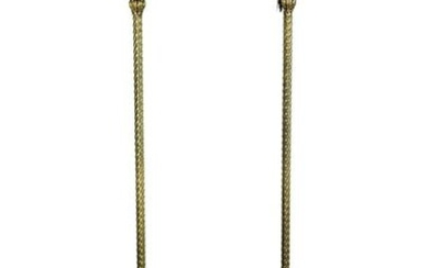 A Pair of Gilt Bronze Torchieres.