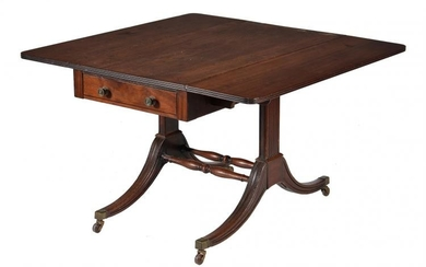 A Regency mahogany Pembroke or sofa table