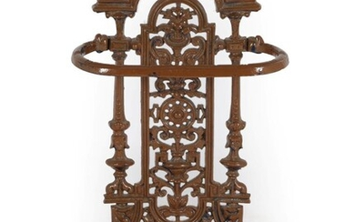 A Victorian Cast Iron Coalbrookdale Style Stick Stand, late 19th...