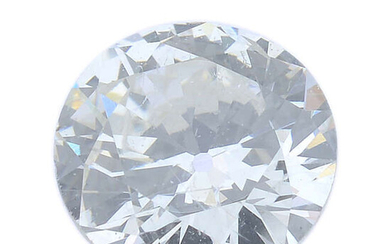 A brilliant-cut diamond, weighing 0.43ct, with report, within a security seal.