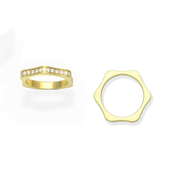 A diamond eternity ring, by