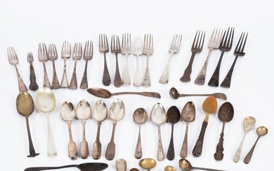 A quantity of Georgian and later silver flatware, various...