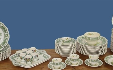 A very important English earthenware dinner service from...