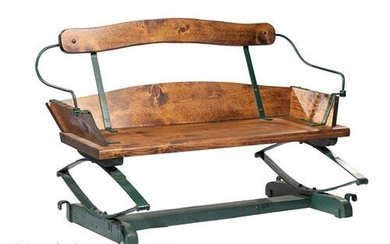 American Iron and Pine Carriage Seat