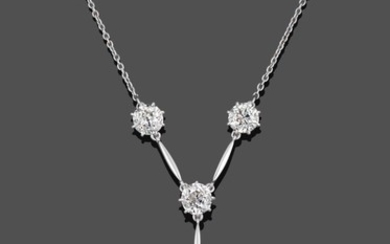 An Early 20th Century Diamond Necklace, comprised of five old...