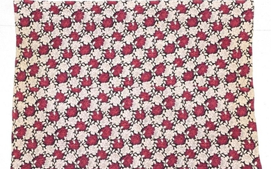 An Early 20th Century Reversible Wholecloth Quilt, printed with large...