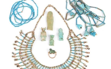 An Egyptian mummy bead necklace Late Period, circa...