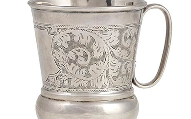 An English sterling silver mug - Birmingham 1925, Hobson, James...