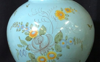 Antique Hand Painted French Floral Ceramic, France