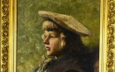 Attributed Iwan Trusz Oil Painting Portrait of Boy