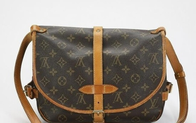 Authentic Louis Vuitton Monogram Canvas Saumur 25