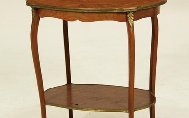 BRONZE MOUNTED LOUIS XV STYLE KINGWOOD TWO TIER STAND
