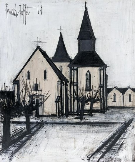 Bernard Buffet (French, 1928-1999) Eglise, 1965