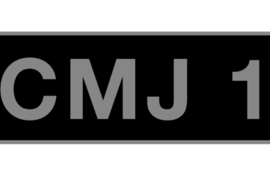 'CMJ 1' - UK vehicle registration number