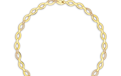 Cartier, A Gold and Diamond Necklace, Cartier