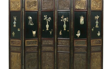 Chinese Six-Panel Room Divider