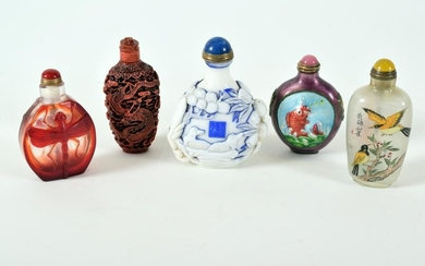 Collection of Five Chinese Snuff Bottles