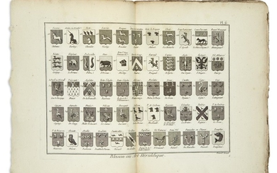 [DIDEROT, DENIS and JEAN LE ROND D'ALEMBERT.] Approximately 85 full and double page engraved plates,