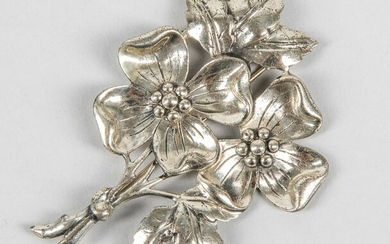 Decorated Large Danecraft Sterling Silver Brooch