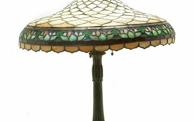 Duffner and Kimberley Water Lily Table Lamp with a