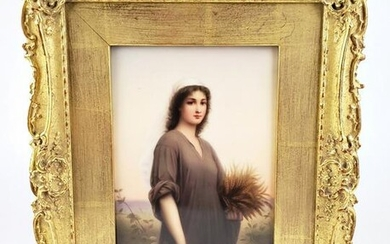 Exquisite 19th C. KPM Plaque of Ruth