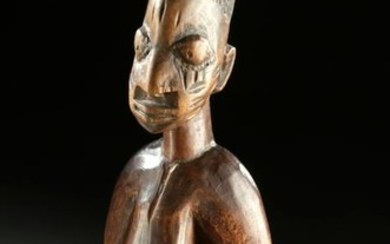 Fine / Early 20th C. African Ibeji Wood Male Twin